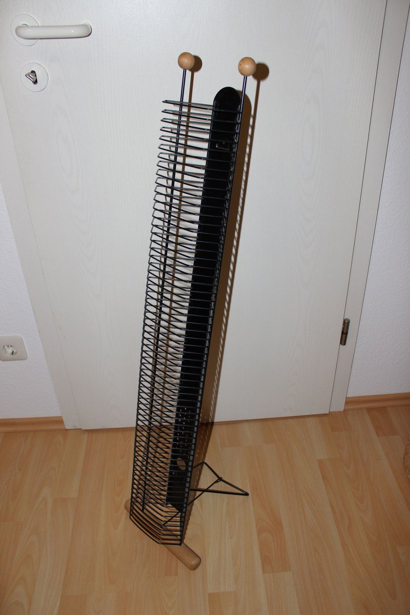 biete cd staender holz buche metall schwarz fuer